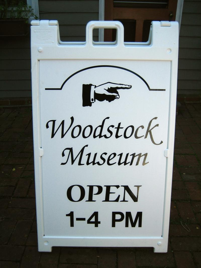 Woodstock Museum sign