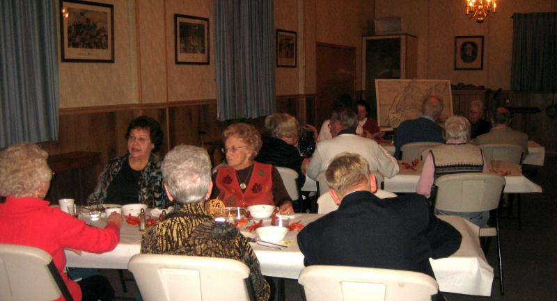 Docents's dinner group